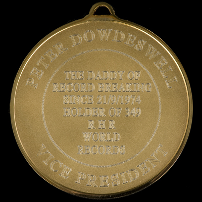 The new RHR Medal - back view example 1